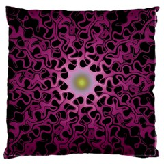 Cool Fractal Large Cushion Case (two Sides) by Simbadda