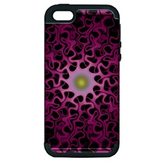 Cool Fractal Apple Iphone 5 Hardshell Case (pc+silicone) by Simbadda
