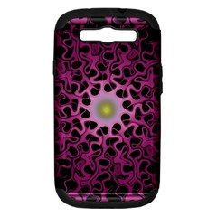 Cool Fractal Samsung Galaxy S Iii Hardshell Case (pc+silicone) by Simbadda