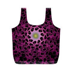 Cool Fractal Full Print Recycle Bags (m)  by Simbadda