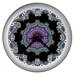 Fractal Lace Wall Clocks (silver)