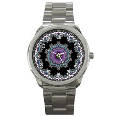 Fractal Lace Sport Metal Watch by Simbadda