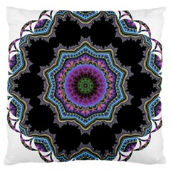 Fractal Lace Large Cushion Case (one Side) by Simbadda