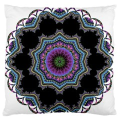Fractal Lace Standard Flano Cushion Case (one Side) by Simbadda