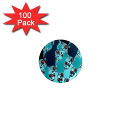 Decorative Fractal Background 1  Mini Magnets (100 Pack)  by Simbadda