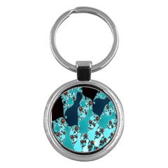 Decorative Fractal Background Key Chains (round)  by Simbadda