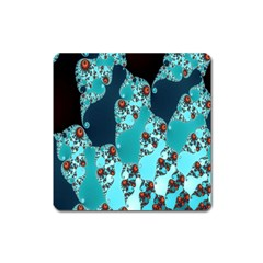 Decorative Fractal Background Square Magnet by Simbadda