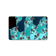 Decorative Fractal Background Magnet (name Card) by Simbadda