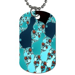 Decorative Fractal Background Dog Tag (two Sides) by Simbadda