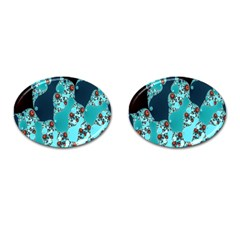 Decorative Fractal Background Cufflinks (oval) by Simbadda