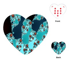 Decorative Fractal Background Playing Cards (heart)  by Simbadda