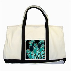 Decorative Fractal Background Two Tone Tote Bag by Simbadda