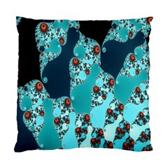 Decorative Fractal Background Standard Cushion Case (two Sides) by Simbadda