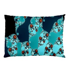 Decorative Fractal Background Pillow Case (two Sides) by Simbadda