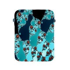 Decorative Fractal Background Apple Ipad 2/3/4 Protective Soft Cases by Simbadda