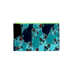 Decorative Fractal Background Cosmetic Bag (xs) by Simbadda