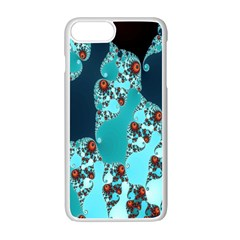 Decorative Fractal Background Apple Iphone 7 Plus White Seamless Case by Simbadda