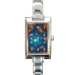 Fractal Star Rectangle Italian Charm Watch by Simbadda