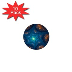 Fractal Star 1  Mini Buttons (10 Pack)
