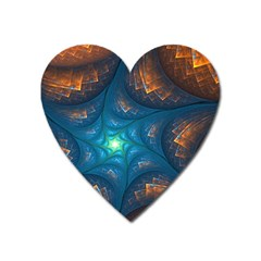 Fractal Star Heart Magnet by Simbadda