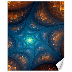 Fractal Star Canvas 16  X 20   by Simbadda