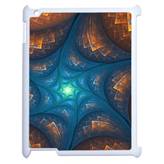 Fractal Star Apple Ipad 2 Case (white) by Simbadda