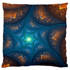 Fractal Star Large Cushion Case (two Sides) by Simbadda