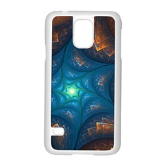 Fractal Star Samsung Galaxy S5 Case (white)