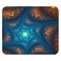 Fractal Star Double Sided Flano Blanket (small)  by Simbadda