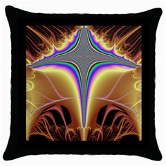 Symmetric Fractal Throw Pillow Case (black) by Simbadda