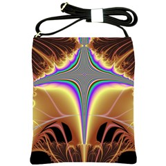 Symmetric Fractal Shoulder Sling Bags by Simbadda