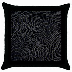 Distorted Net Pattern Throw Pillow Case (black) by Simbadda