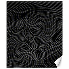 Distorted Net Pattern Canvas 8  X 10  by Simbadda