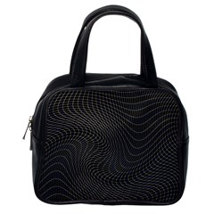 Distorted Net Pattern Classic Handbags (one Side) by Simbadda