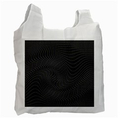 Distorted Net Pattern Recycle Bag (one Side) by Simbadda