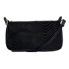 Distorted Net Pattern Shoulder Clutch Bags