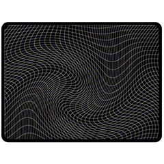 Distorted Net Pattern Fleece Blanket (large)  by Simbadda