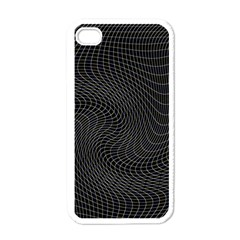 Distorted Net Pattern Apple Iphone 4 Case (white) by Simbadda
