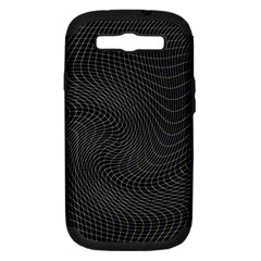 Distorted Net Pattern Samsung Galaxy S Iii Hardshell Case (pc+silicone) by Simbadda