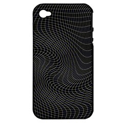 Distorted Net Pattern Apple Iphone 4/4s Hardshell Case (pc+silicone) by Simbadda
