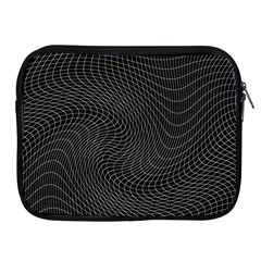 Distorted Net Pattern Apple Ipad 2/3/4 Zipper Cases by Simbadda