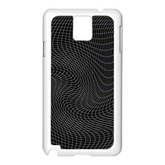 Distorted Net Pattern Samsung Galaxy Note 3 N9005 Case (white) by Simbadda