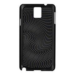 Distorted Net Pattern Samsung Galaxy Note 3 N9005 Case (black) by Simbadda