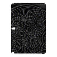 Distorted Net Pattern Samsung Galaxy Tab Pro 12 2 Hardshell Case by Simbadda