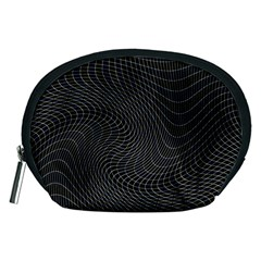 Distorted Net Pattern Accessory Pouches (medium)  by Simbadda