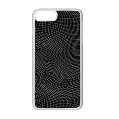 Distorted Net Pattern Apple Iphone 7 Plus White Seamless Case by Simbadda