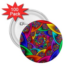Color Spiral 2 25  Buttons (100 Pack)  by Simbadda