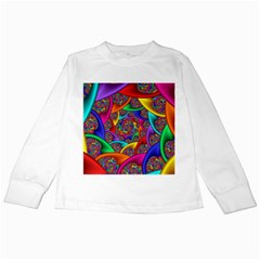 Color Spiral Kids Long Sleeve T Shirts by Simbadda