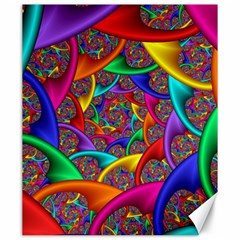 Color Spiral Canvas 20  X 24   by Simbadda