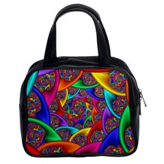 Color Spiral Classic Handbags (2 Sides) by Simbadda